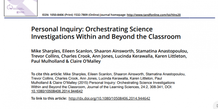 Personal Inquiry: Orchestrating Science Investigations Within and Beyond the Classroom