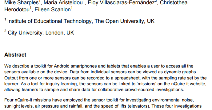 Sense-it: A Smartphone Toolkit for Citizen Inquiry Learning